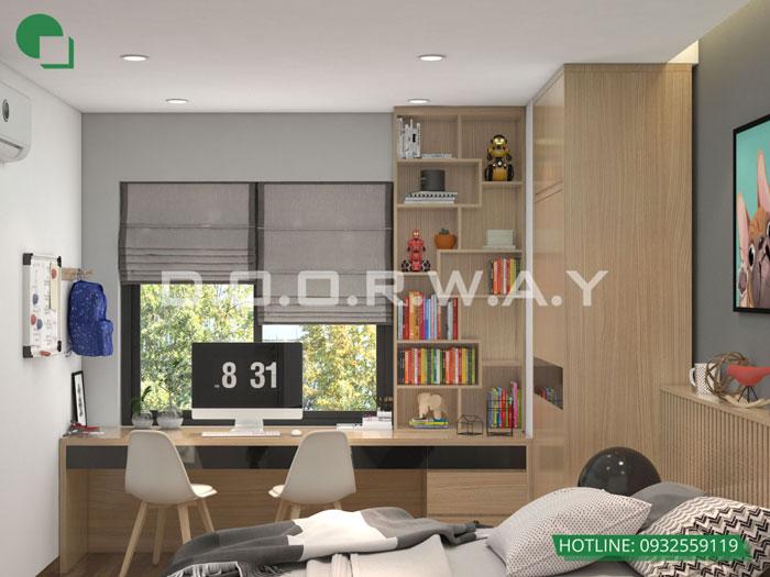 PN2(2) - Nội thất căn hộ 105m2 Hinode City với cách bố trí tối ưu
