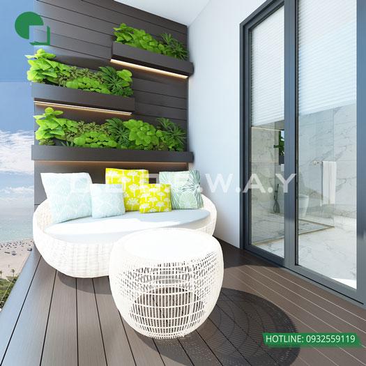 Tieu-canh(1) - Nội thất căn hộ 164m2 Manhattan Tower cho đại gia đình