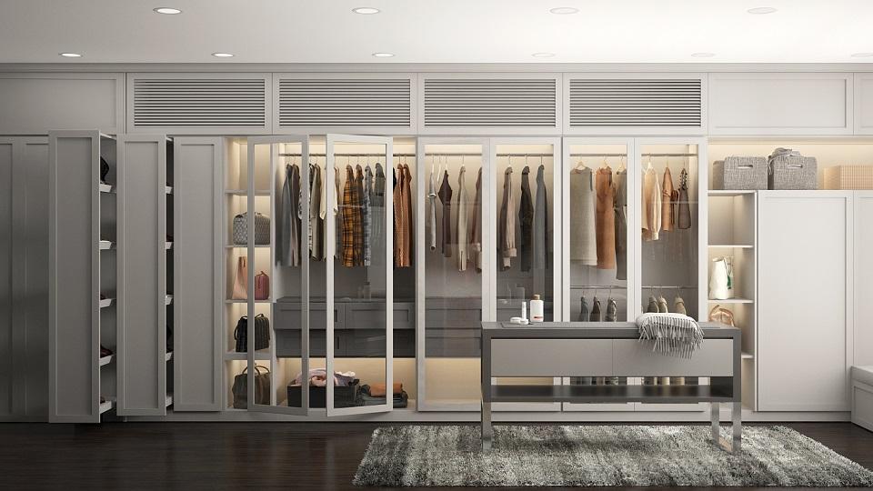 Có nên thiết kế phòng ngủ và phòng thay đồ chung hay không?