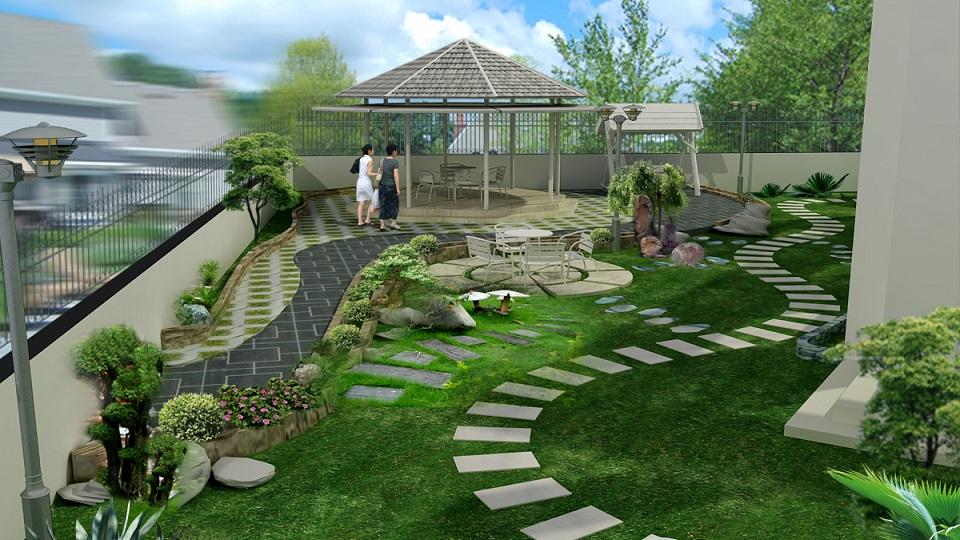 4 nguyên tắc thiết kế tiểu cảnh sân vườn nhà phố cần biết
