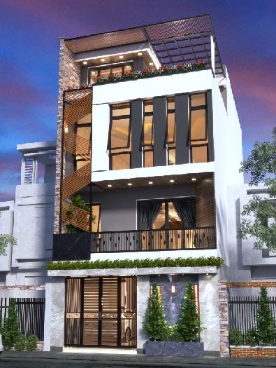 3-Tham khảo 7+ mẫu thiết kế nhà 30m2 4 tầng đẹp mê mẩn