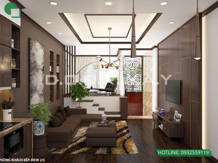 5-Thi công nội thất phòng khách bằng gỗ - xu hướng thời đại