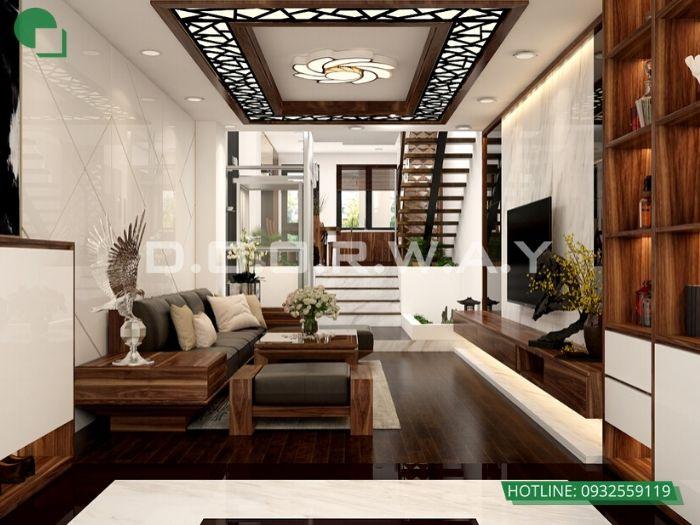 6-Thi công nội thất phòng khách bằng gỗ - xu hướng thời đại