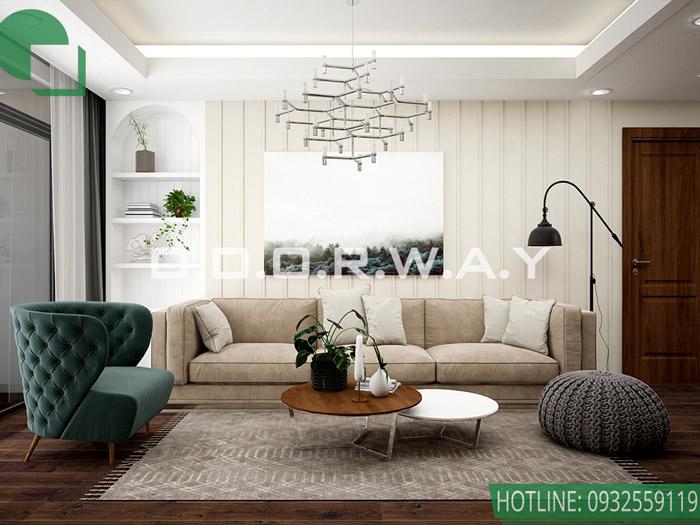 1-Các mẫu phòng khách Tân cổ điển đẹp được ưa thích nhất 2019
