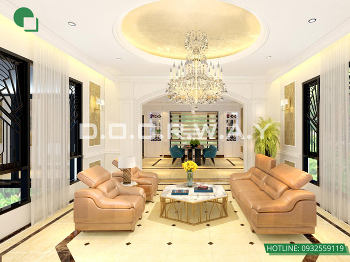11-Các mẫu phòng khách tân cổ điển đẹp