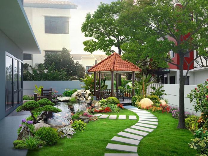 2-Thiết kế sân vườn nhà biệt thự đẹp, hợp phong thủy như thế nào?
