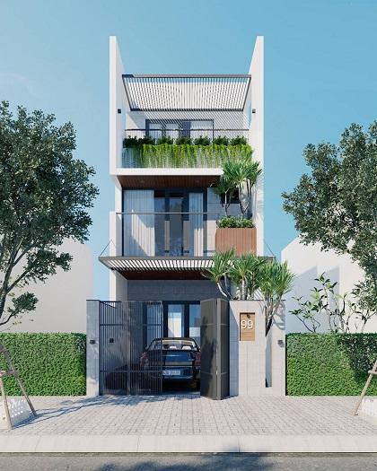 3-Cách thiết kế chỗ để xe cho nhà phố đúng chuẩn