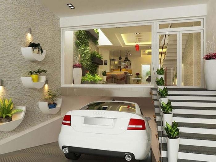 4-Cách thiết kế chỗ để xe cho nhà phố đúng chuẩn