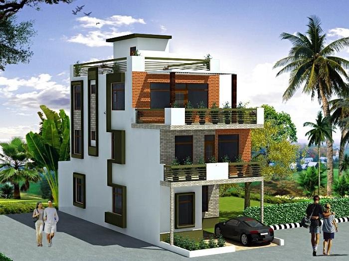 4-Thiết kế nhà 3 mặt tiền và cách hóa giải phóng thủy