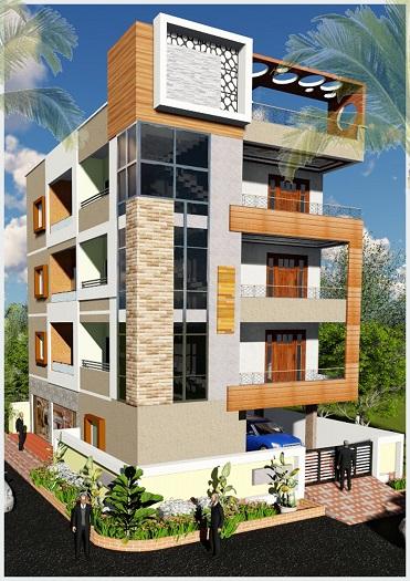 5-Thiết kế nhà 3 mặt tiền và cách hóa giải phóng thủy