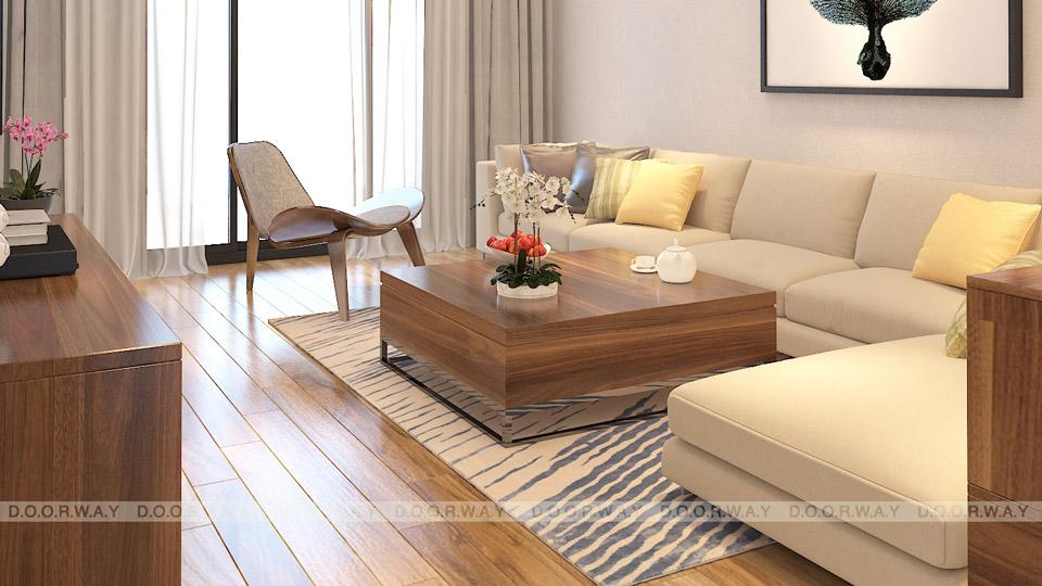 Mẫu thiết kế căn hộ chung cư đẹp thanh lịch, hiện đại