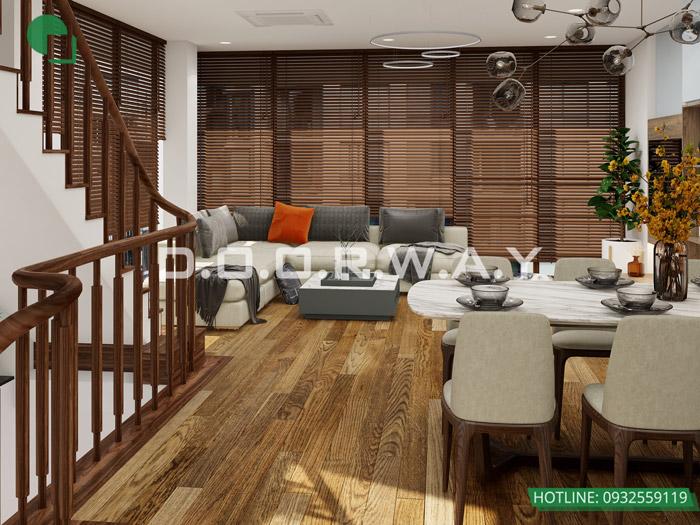 (16)Mẫu thiết kế nội thất nhà phố hiện đại đẹp 2020