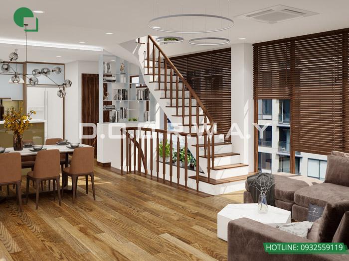 (17)Mẫu thiết kế nội thất nhà phố hiện đại đẹp 2020