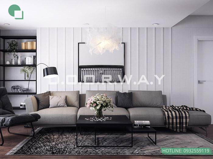 (2)Mẫu thiết kế nội thất chung cư phong cách Scandinavian