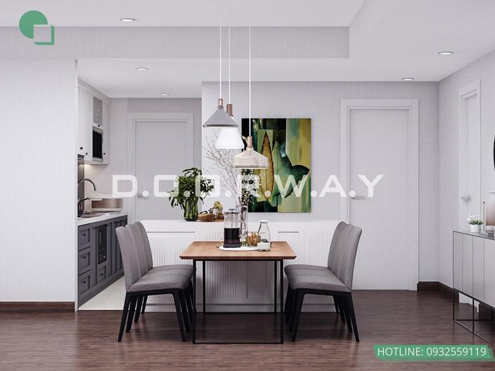 (5)Mẫu thiết kế nội thất chung cư phong cách Scandinavian