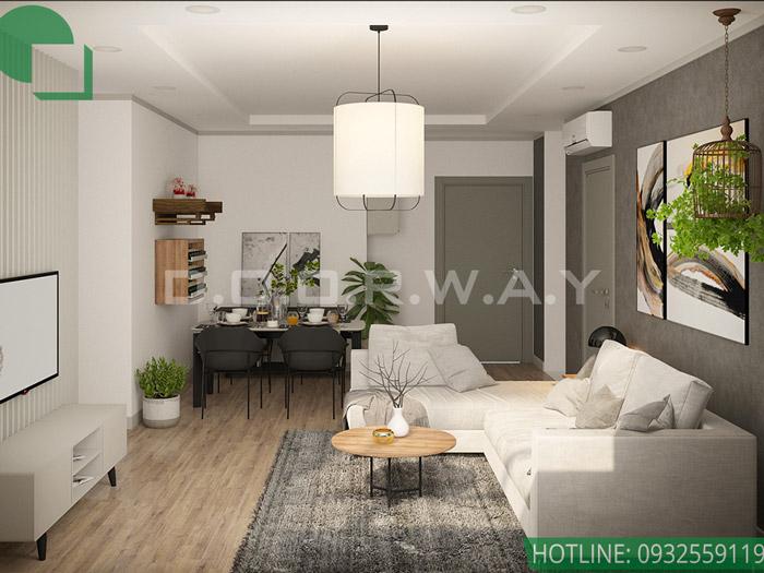 1-Mẫu nội thất chung cư 1 phòng ngủ - Nội thất Doorway