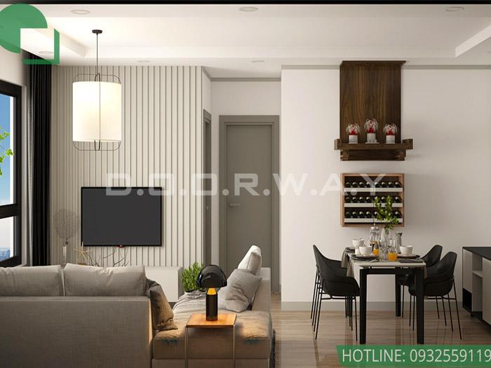 5-Mẫu nội thất chung cư 1 phòng ngủ - Nội thất Doorway