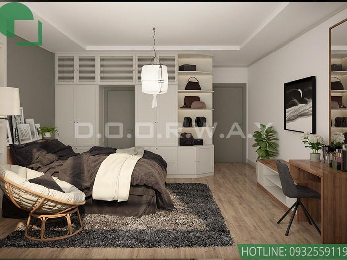 6-Mẫu nội thất chung cư 1 phòng ngủ