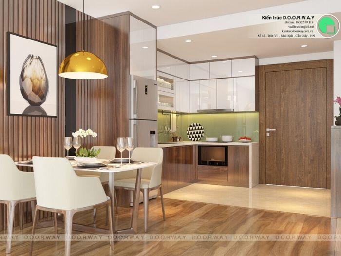 pb1-Thiết kế nội thất căn 2 phòng ngủ Mỹ Đình Pearl