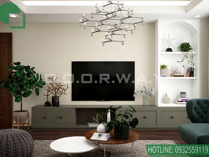 (pk2)Thiết kế nội thất căn 3 phòng ngủ Mỹ Đình Pearl