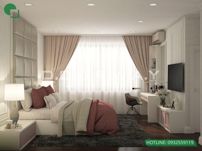 PN1(góc 2)Thiết kế nội thất căn 2 phòng ngủ Mỹ Đình Pearl