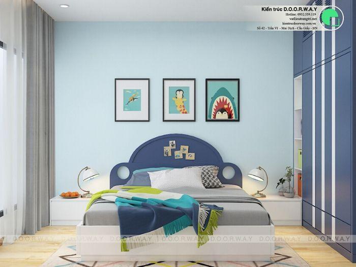 (pn2)góc 1Thiết kế nội thất căn 3 phòng ngủ Mỹ Đình Pearl