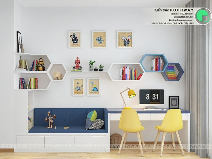 (pn2)góc 2Thiết kế nội thất căn 3 phòng ngủ Mỹ Đình Pearl