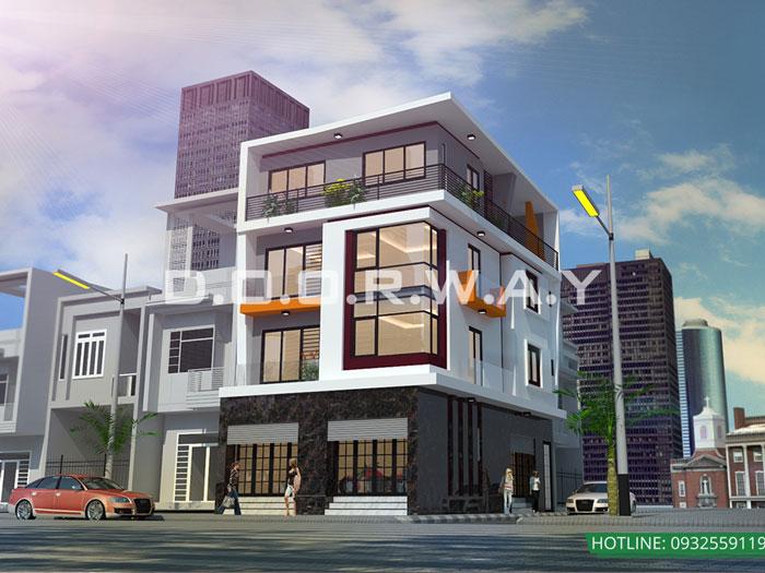 1-5 mẫu thiết kế nhà mặt phố kinh doanh đẹp// Kiến trúc Doorway