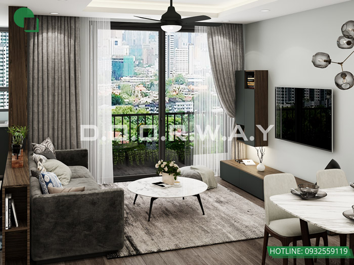 (2)Thiết kế thi công nội thất chung cư trọn gói tại Eco Dream