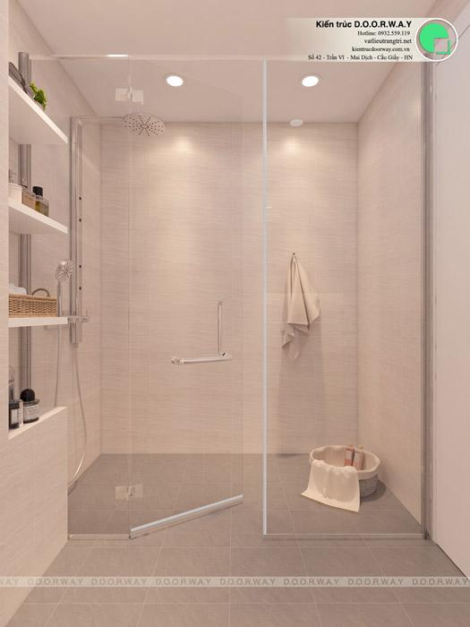 (wc2)Mẫu nội thất chung cư 1 phòng ngủ