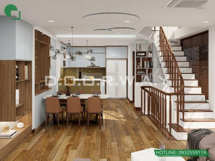 (2)Thiết kế nội thất nhà lô phố 4 tầng đẹp từng milimet
