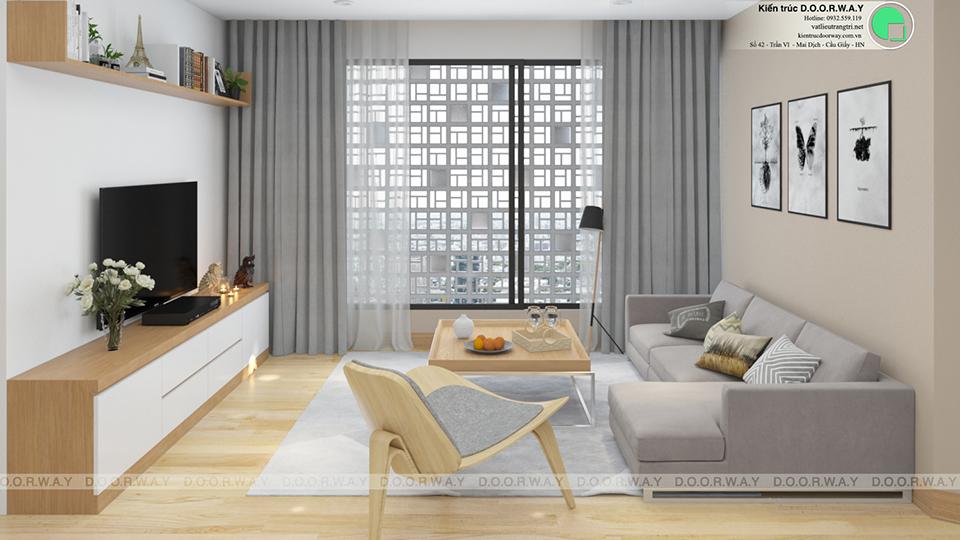 Nội thất chung cư 60m2 thiết kế đơn giản - hiện đại