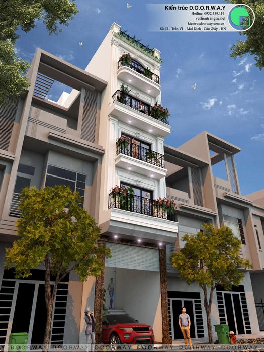 (3)Mẫu thiết kế nhà phố tại Hà Nội