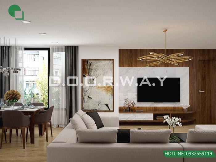 (9)Thiết kế nội thất căn hộ 104m2 Sky Central Định Công