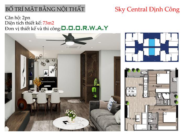 (mb)Thiết kế nội thất căn 2pn Sky Central