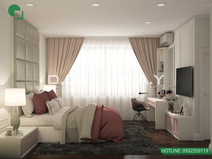 (5)Thiết kế nội thất căn 3pn Sky Central