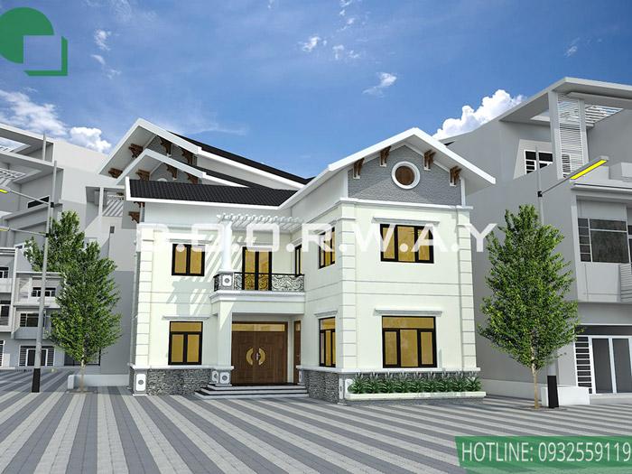 (3)Mẫu thiết kế biệt thự tại Hà Nội