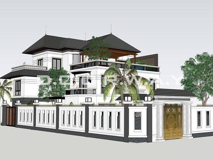 (4)Mẫu thiết kế biệt thự tại Hà Nội