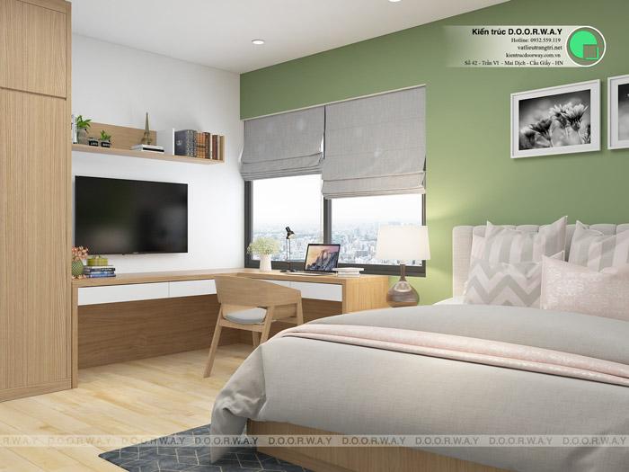 (13)Tư vấn thiết kế nội thất căn 66m2 Sky Central