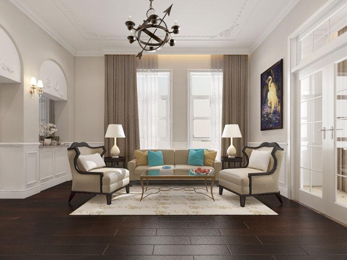 (2)5 lưu ý khi thiết kế nội thất chung cư Tân Cổ điển cần nằm rõ