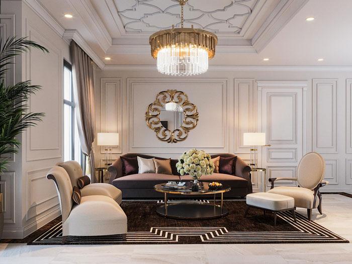 (7)5 lưu ý khi thiết kế nội thất chung cư Tân Cổ điển cần nằm rõ