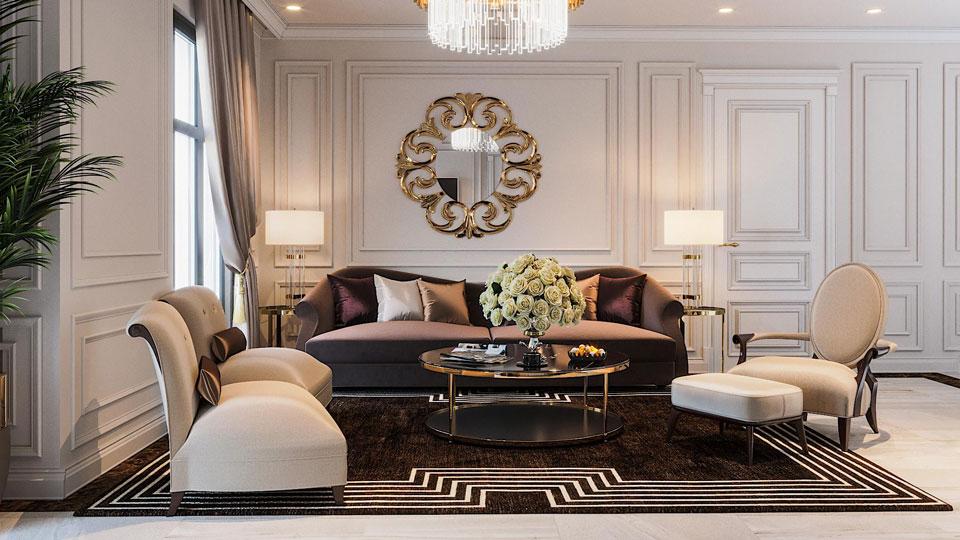 5 lưu ý khi thiết kế nội thất chung cư Tân Cổ điển cần nằm rõ