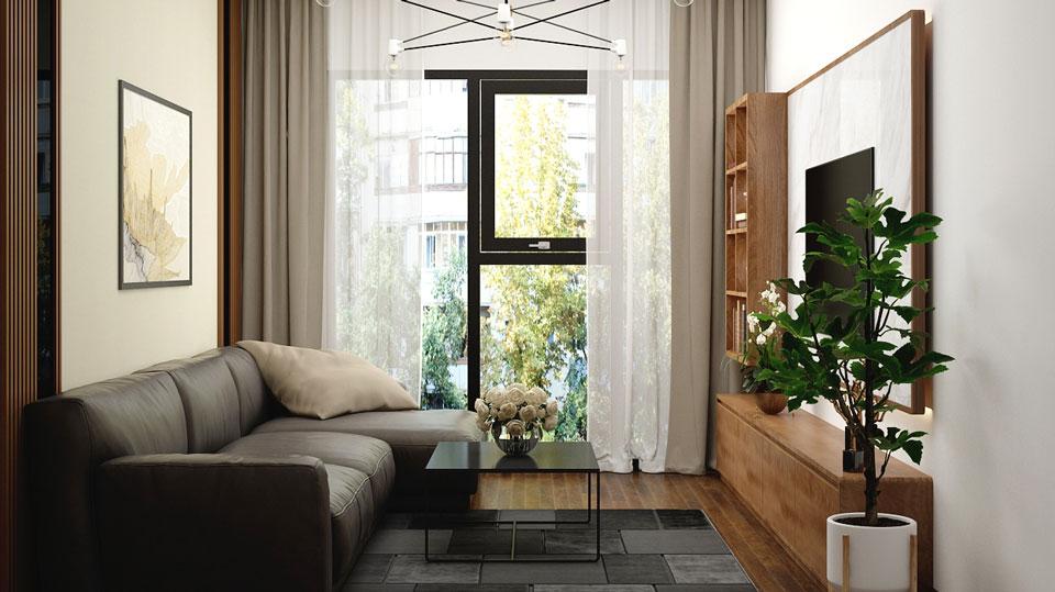 Thiết kế chung cư phong cách tối giản - Căn 2 phòng ngủ đẹp