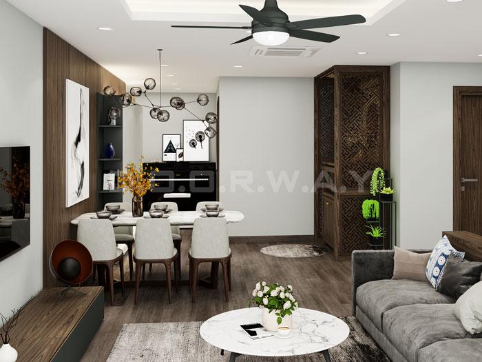 (19)Thiết kế nội thất chung cư đẹp hiện đại, công năng hợp lí