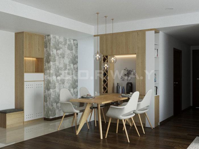(3)Thiết kế nội thất chung cư đẹp hiện đại, công năng hợp lí