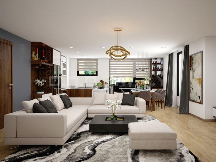(8)Thiết kế nội thất chung cư 3pn đẹp hiện đại