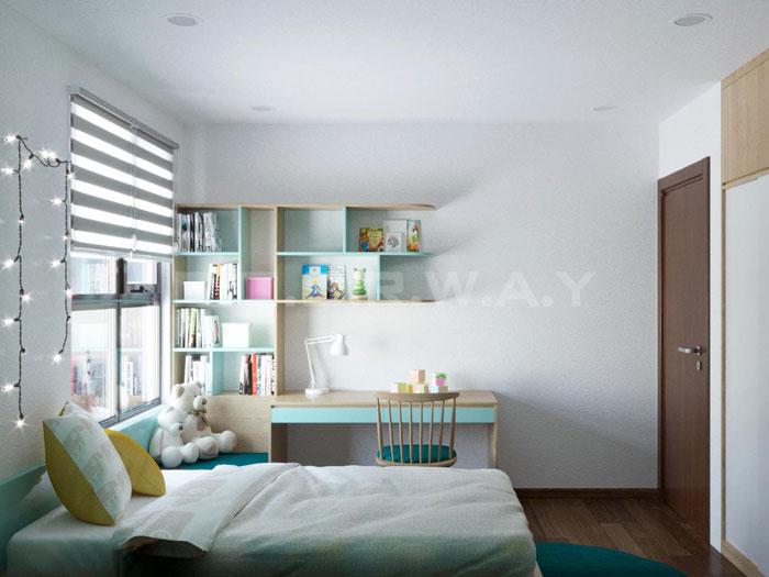 (5)Thiết kế nội thất chung cư đẹp hiện đại, công năng hợp lí