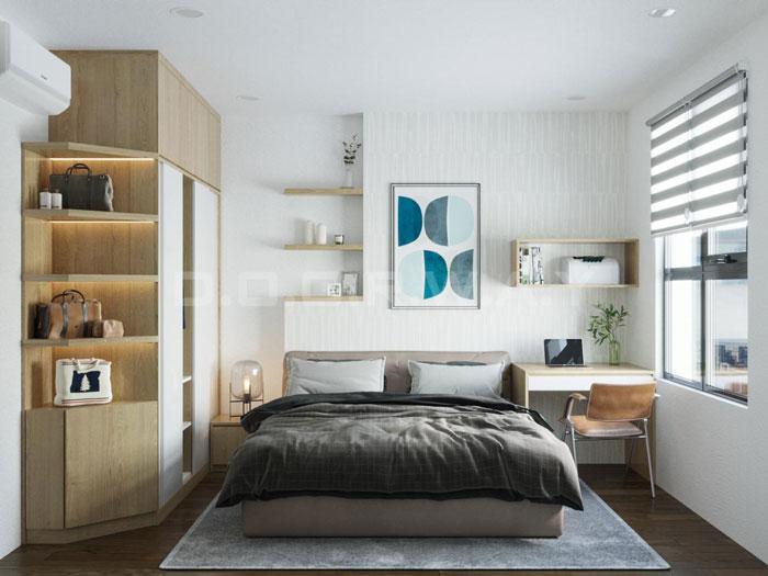 (6)Thiết kế nội thất chung cư đẹp hiện đại, công năng hợp lí