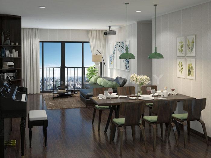 (2)Thiết kế nội thất chung cư 90m2