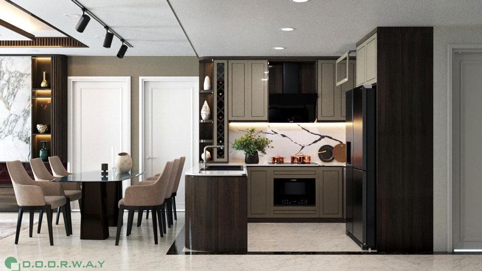 Thiết kế nội thất chung cư đẹp sang trọng D'. Le Roi Soleil